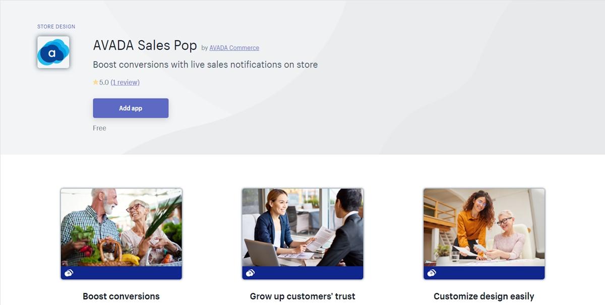 AVADA Sales Pop - Live Sales Notifications