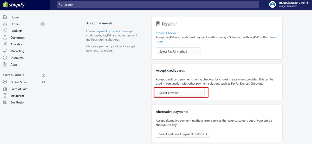 set up shopify payments 2