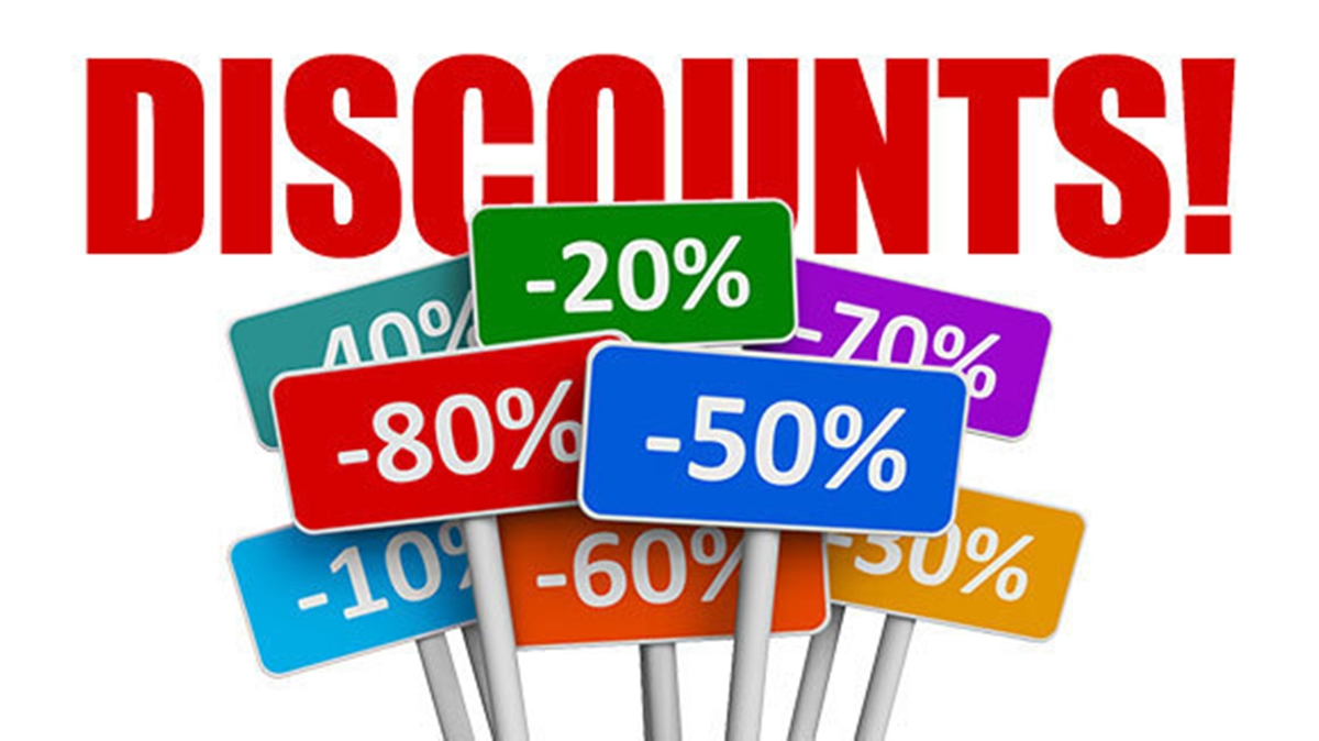 Offer discounts