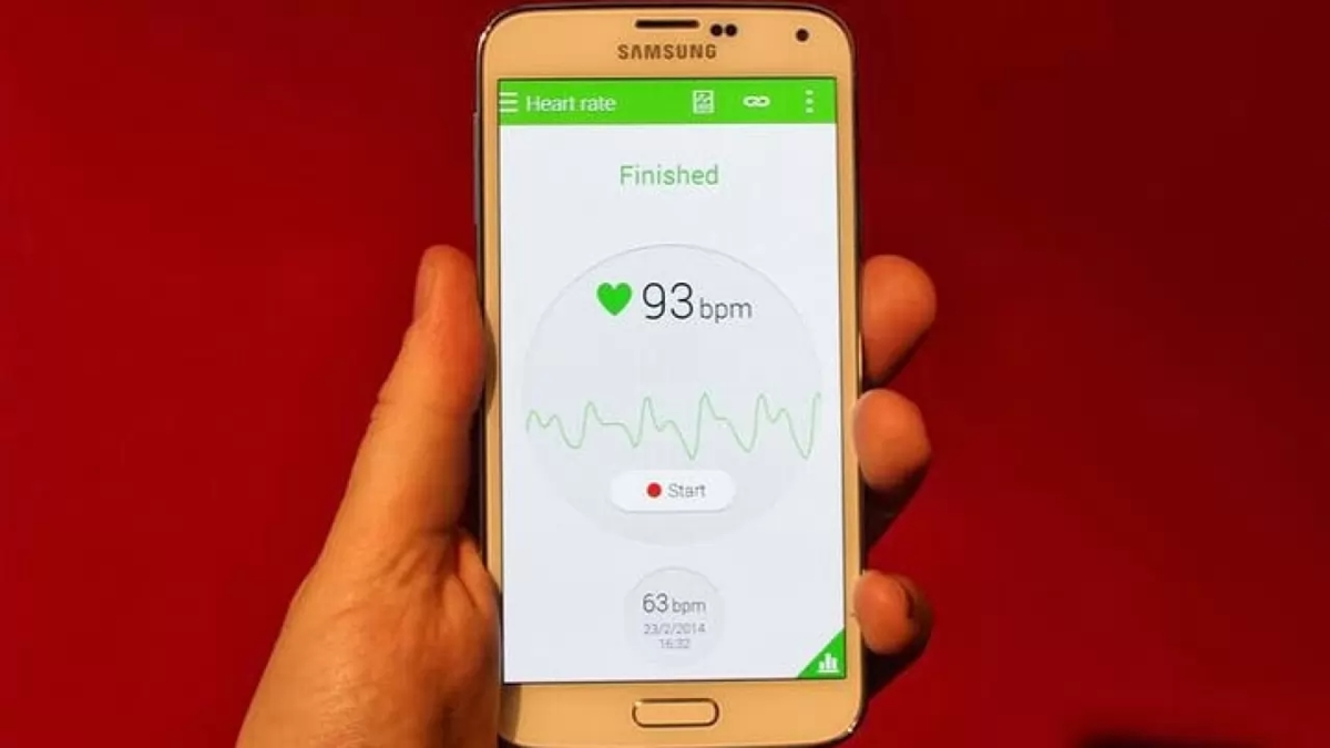 Samsung S5 Heart rate feature
