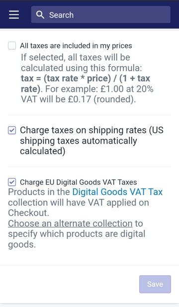 enable the VAT rates for digital goods