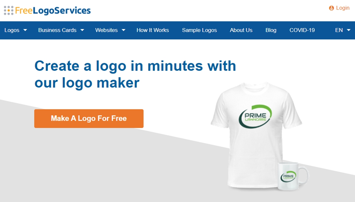 Free Logo Services' official webpage