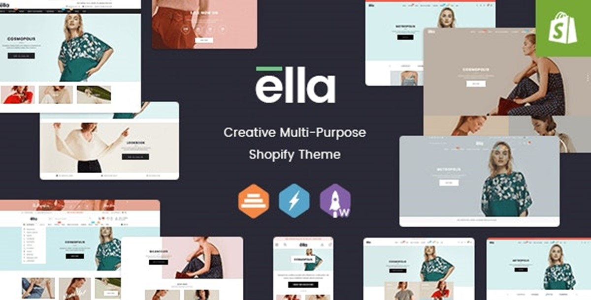 Best Shopify Bootstrap themes Compatible with Bootstrap 4.x: Ella theme