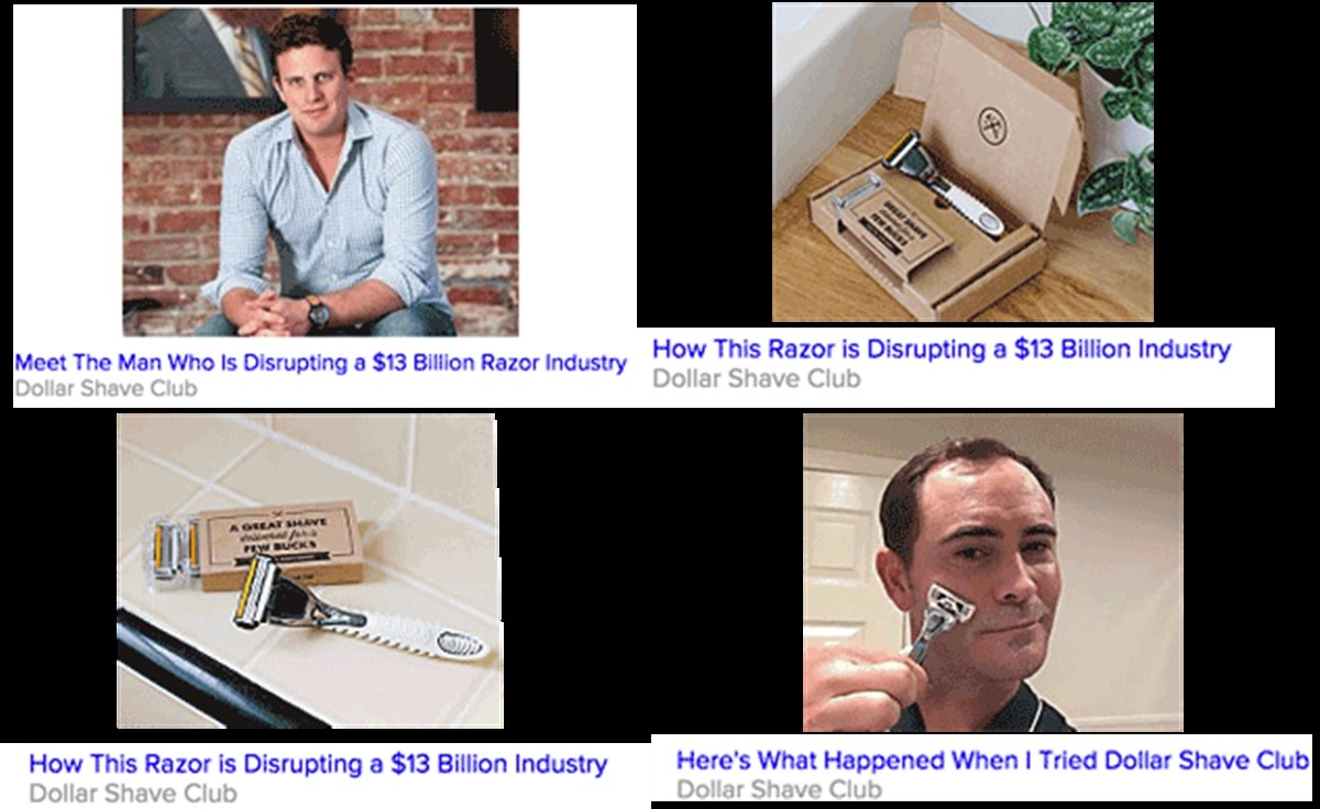 Dollar Shave Club's native ads