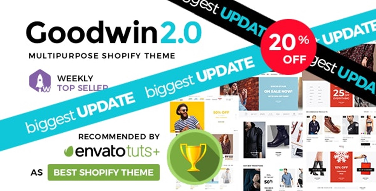 Best Shopify Bootstrap themes Compatible with Bootstrap 4.x: Goodwin theme