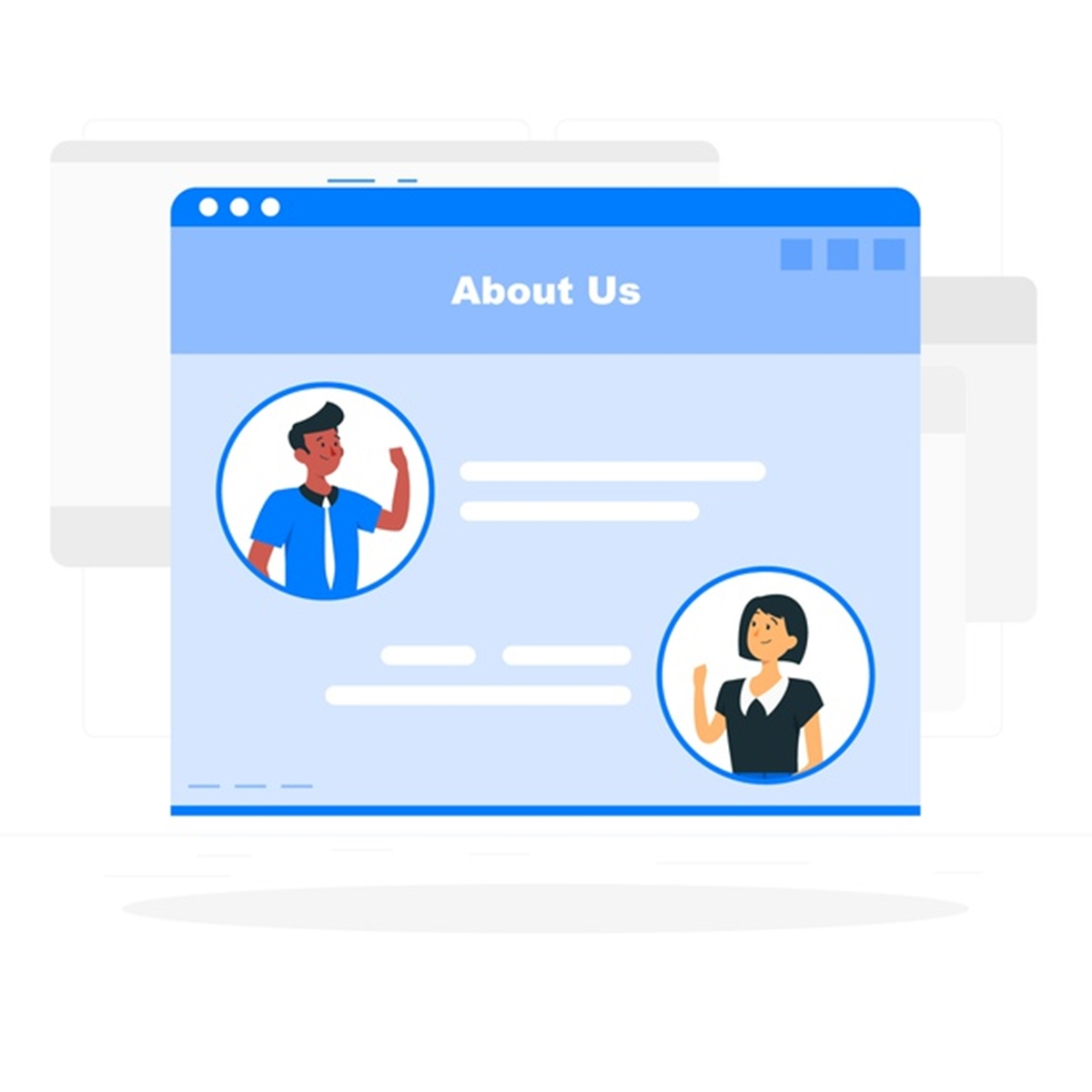 """""""About us"""" Page template for Shopify eCommerce store"""