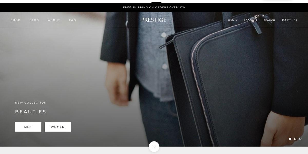 Shopify Prestige theme Allure Style