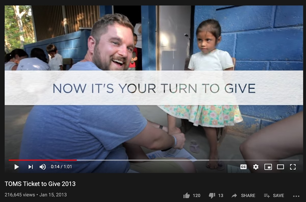 Toms marketing campaign: TOMS ticket to give 2013