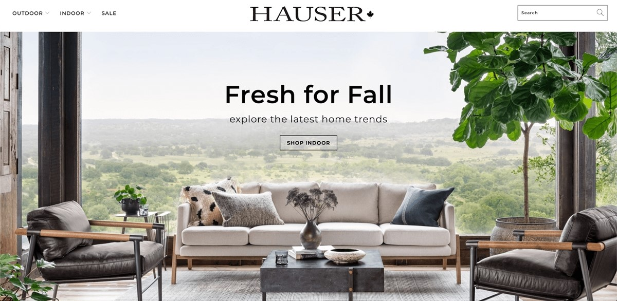 Shopify Store Examples: Hauser - Canadian furniture store