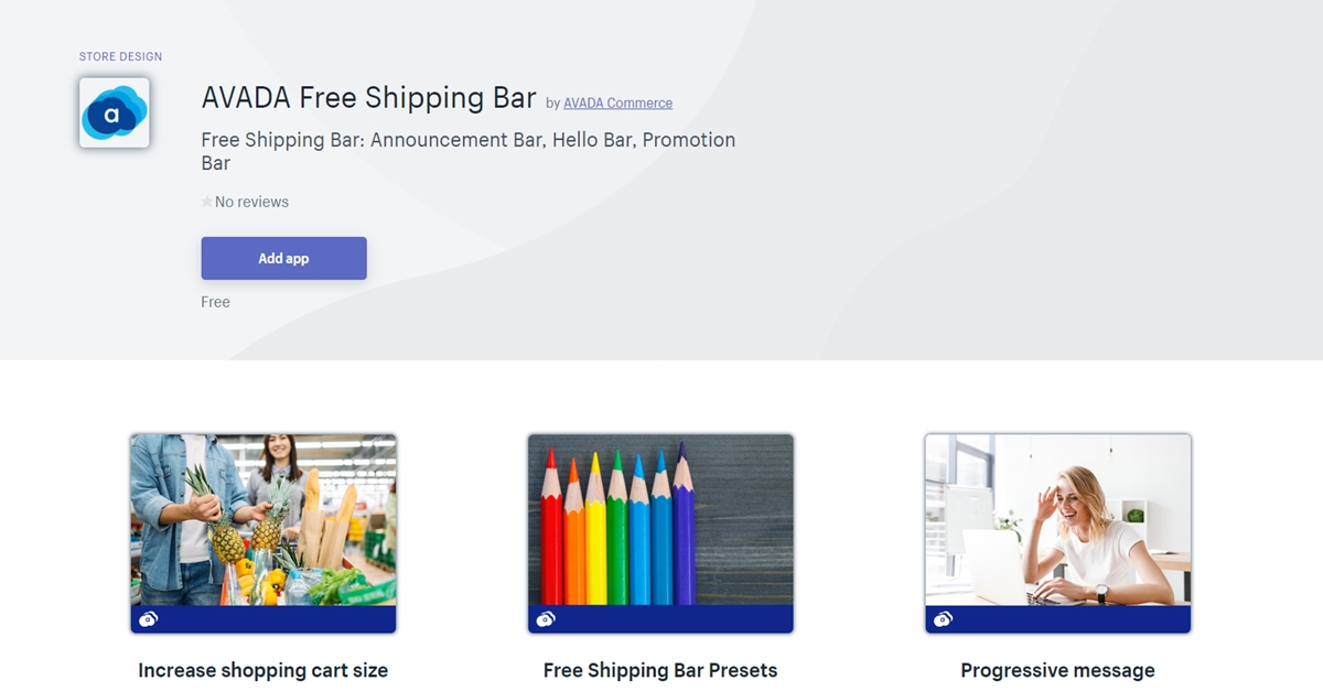 Best Shopify apps: AVADA Free Shipping Bar