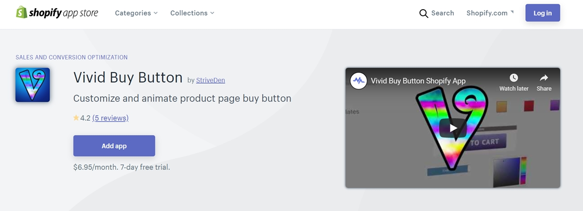 Vivid Buy Button by Strive den