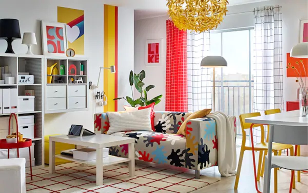 Classic IKEA furniture with graphic twist