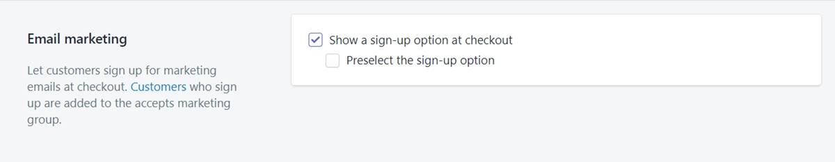 How to collect customer emails from the checkout