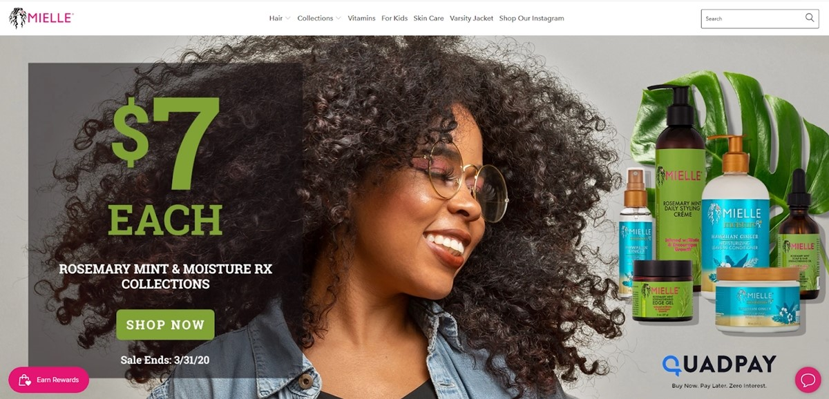 Mielle Organics website