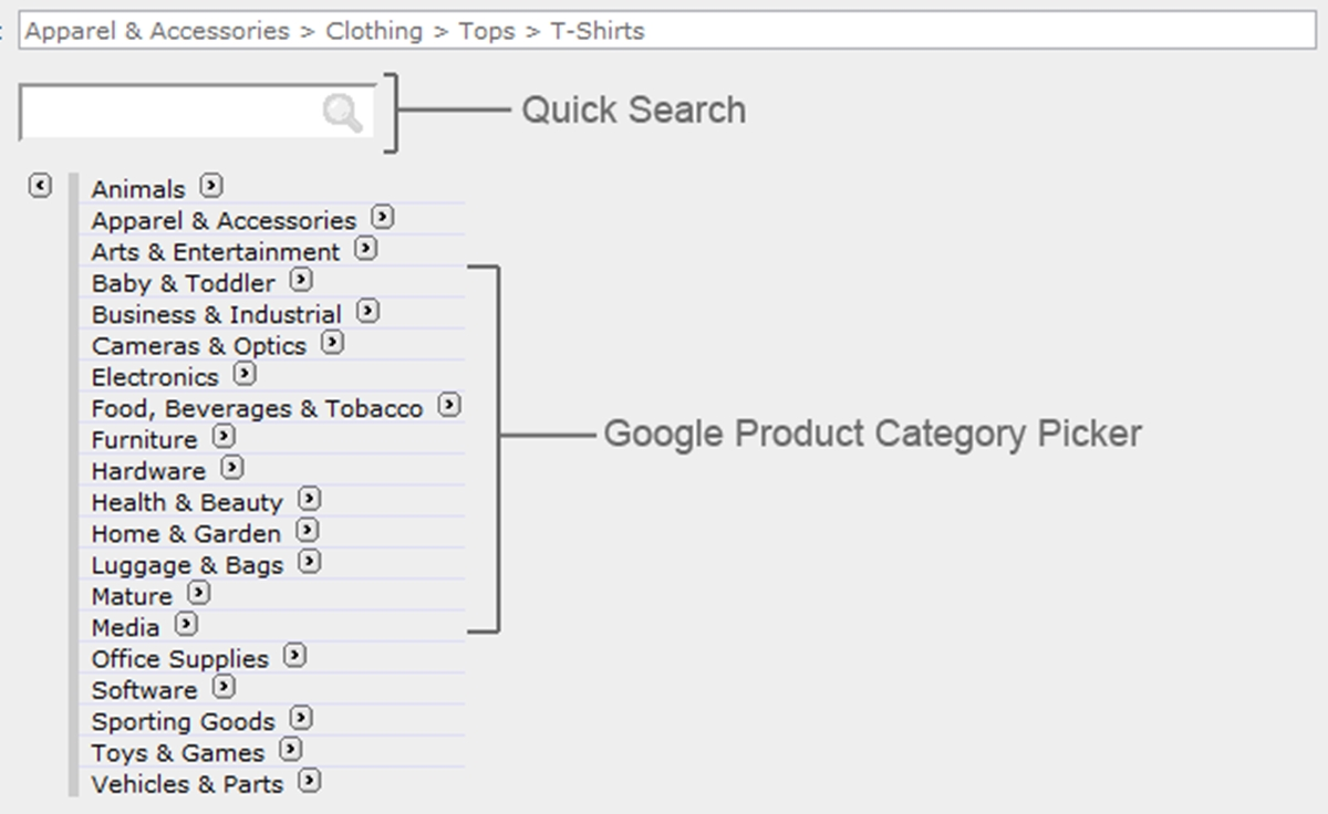 What is the Google product category