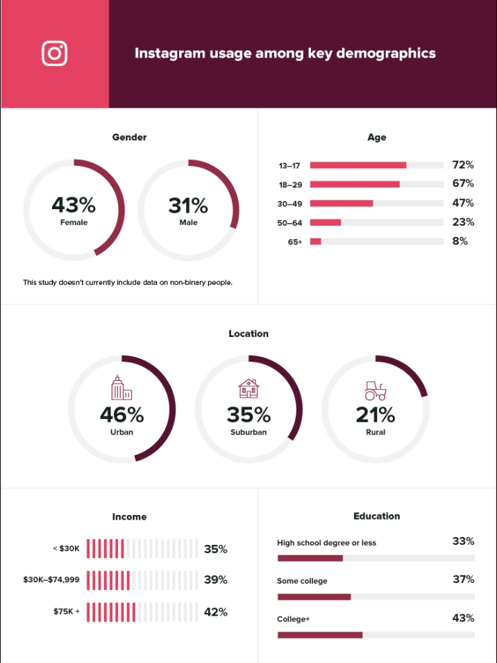 Instagram's user demographic by SproutSocial