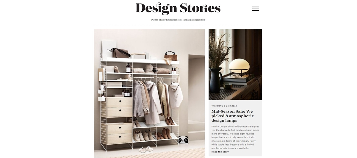 Finnish Design Shop content promotion strategy is creating a magazine