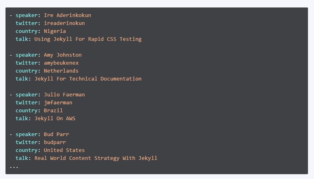 JSON format output