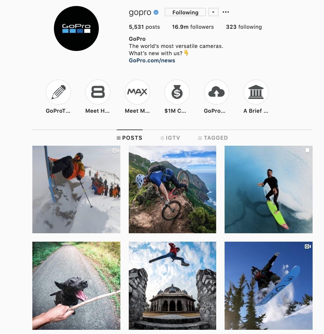 GoPro's Instagram