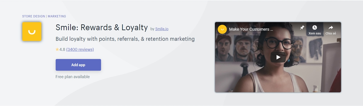 Best Shopify apps: Smile.io - Rewards and Loyalty