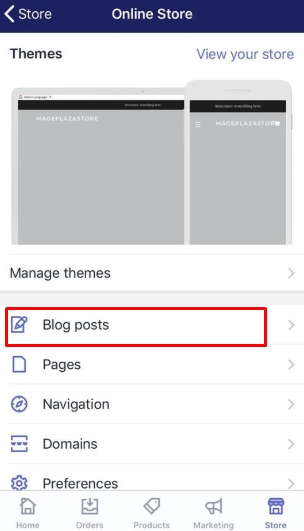 To set a specific publish date for a blog post on iPhone 3