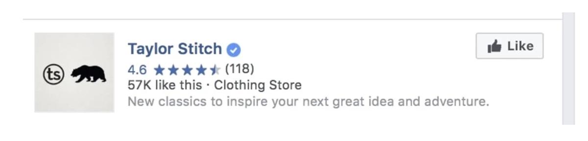 Facebook Likes & Ratings