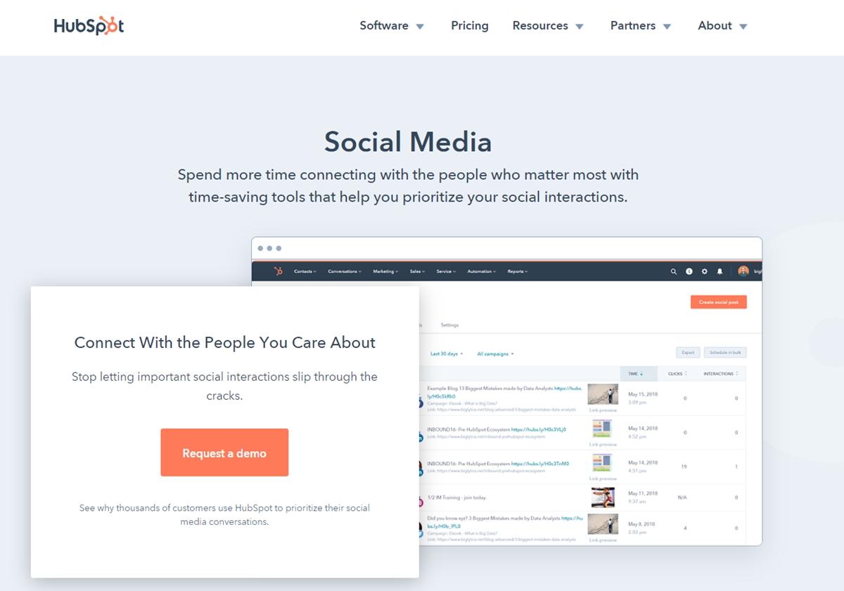 HubSpot's Social Tool