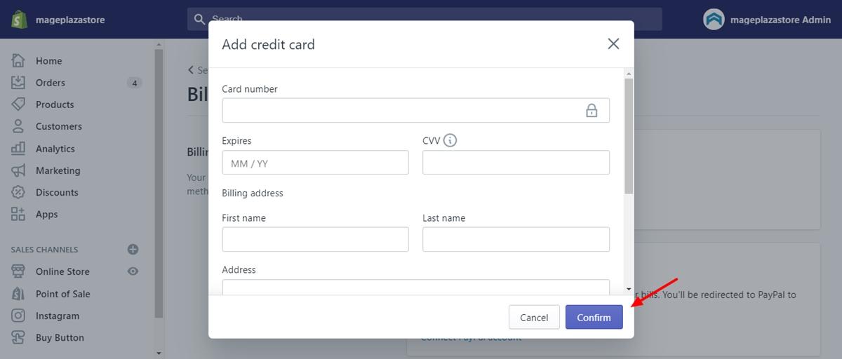 Change your credit card details 3