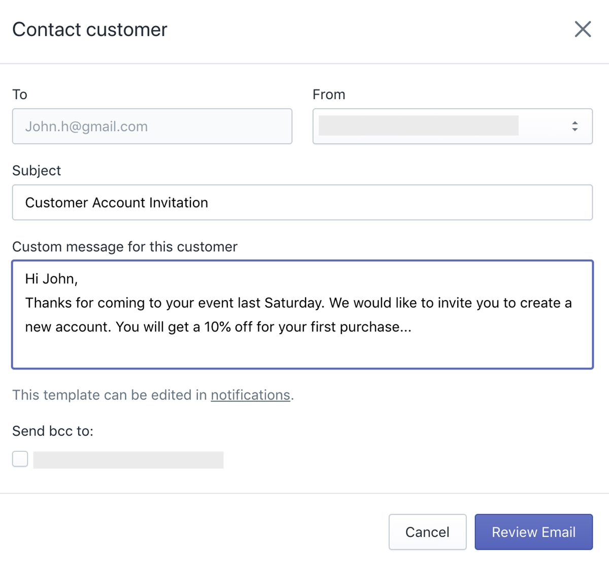 Shopify Customers Login: Fill out customer information