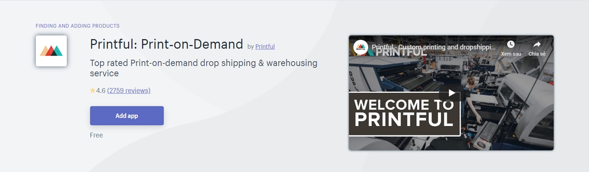 Best Shopify apps: Printful - Print on Demand