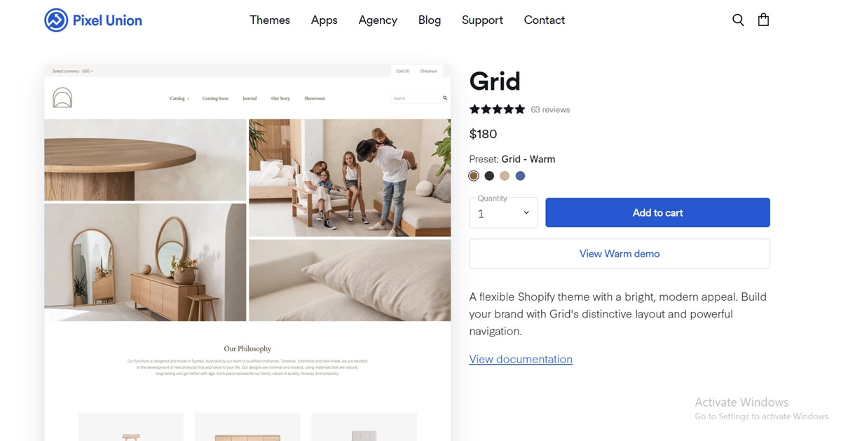 What is Shopify Grid theme