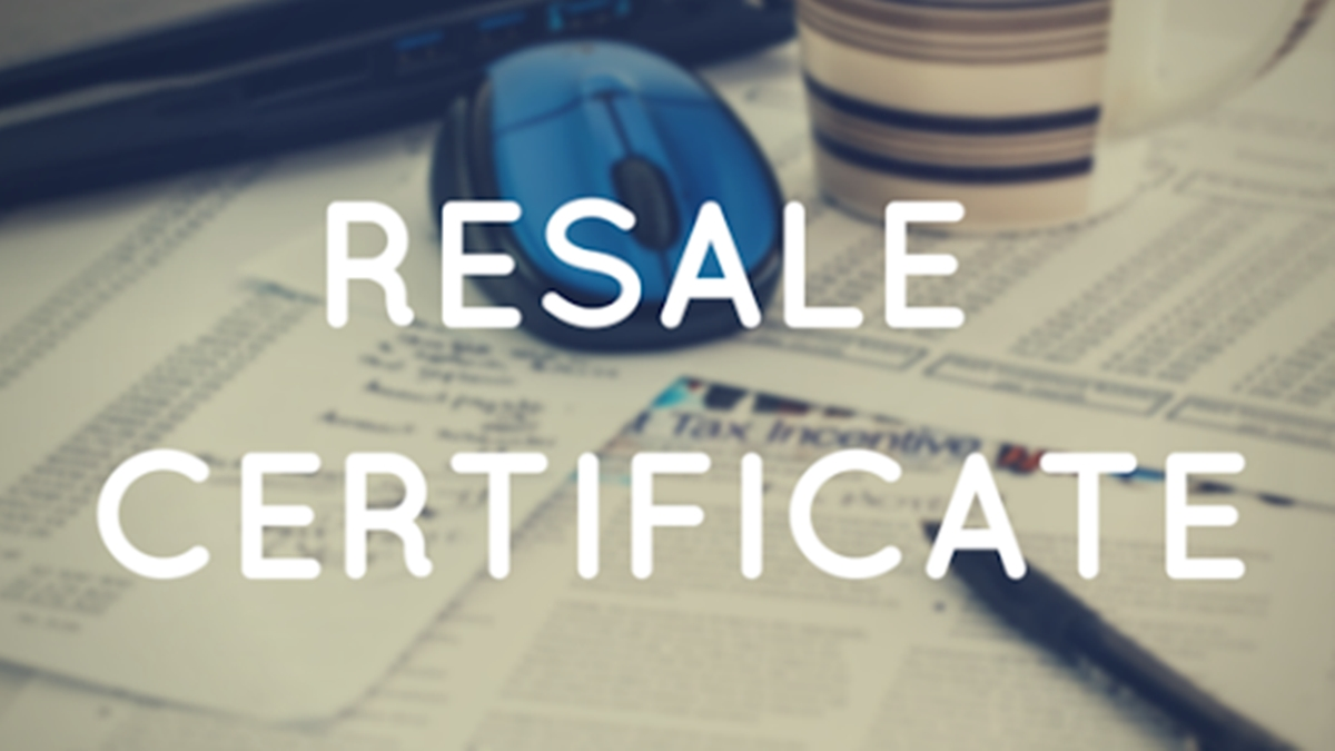 Where to use a resale certificate