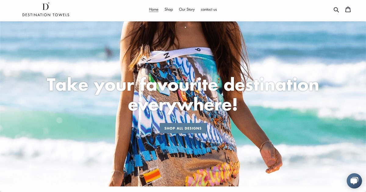 Shopify Store Examples: Destination Towels - Beach Towel store