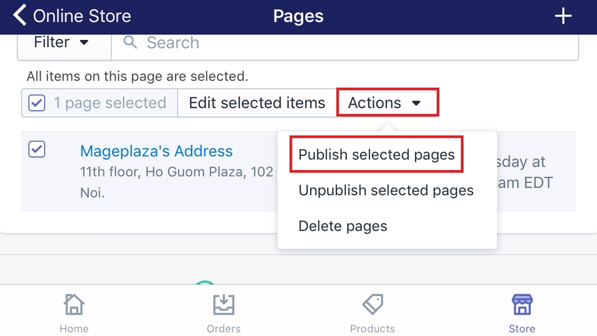 How to publish web pages in bulk