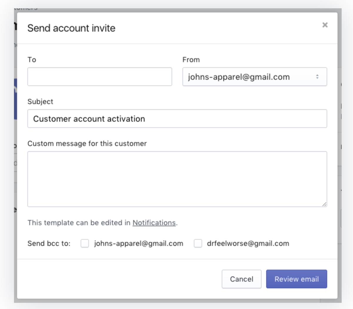 Shopify Customers Login: Customers Direct Invitations