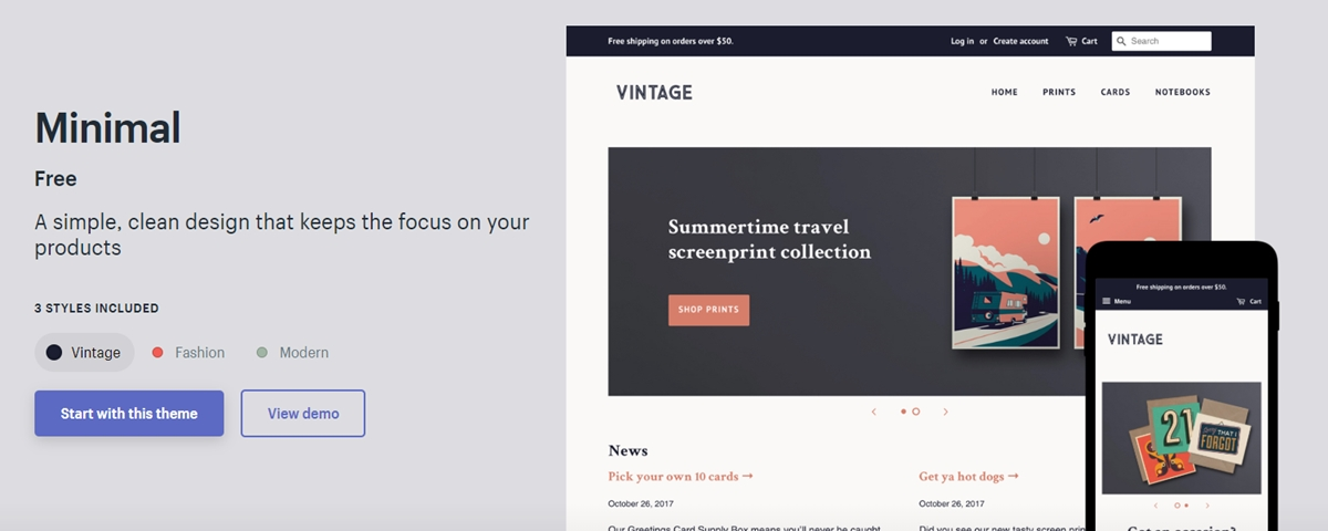 Shopify Minimal Theme Review: The Beauty in Simplicity