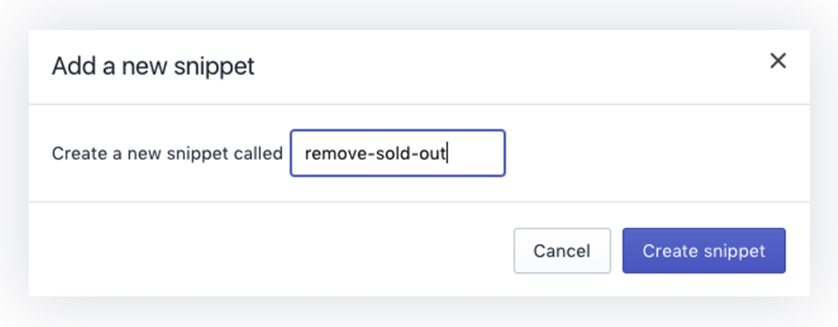 remove sold out