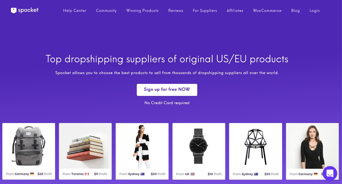 best Shopify dropshipping apps - Spocket