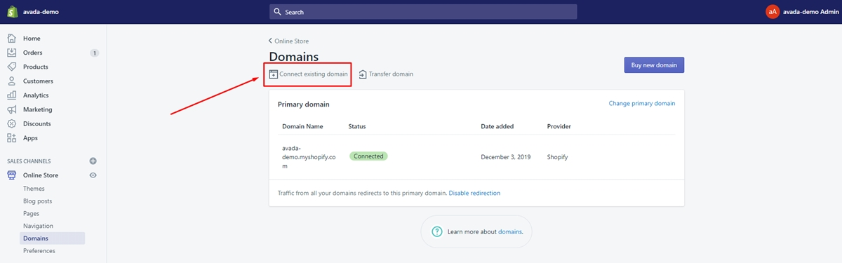 how to link your godaddy domain to shopify