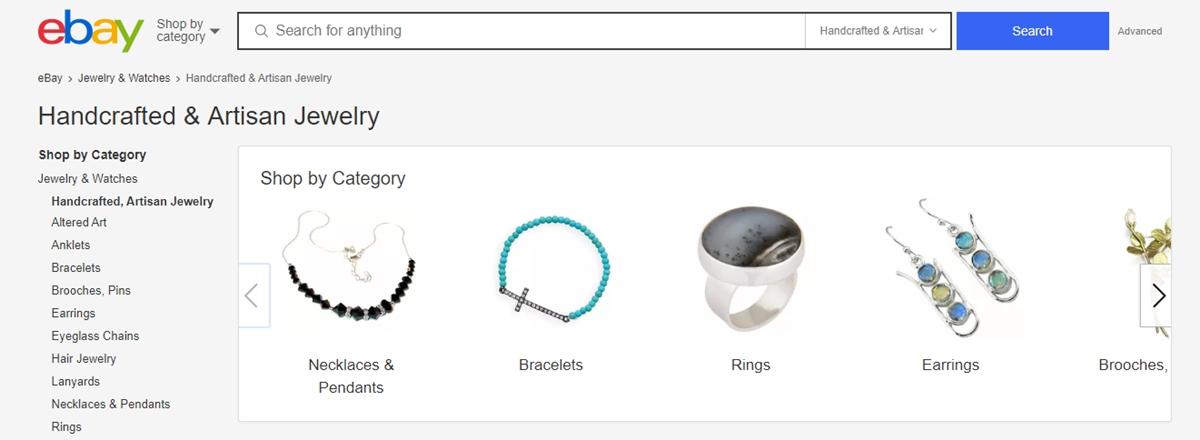 Handmade crafts on eBay