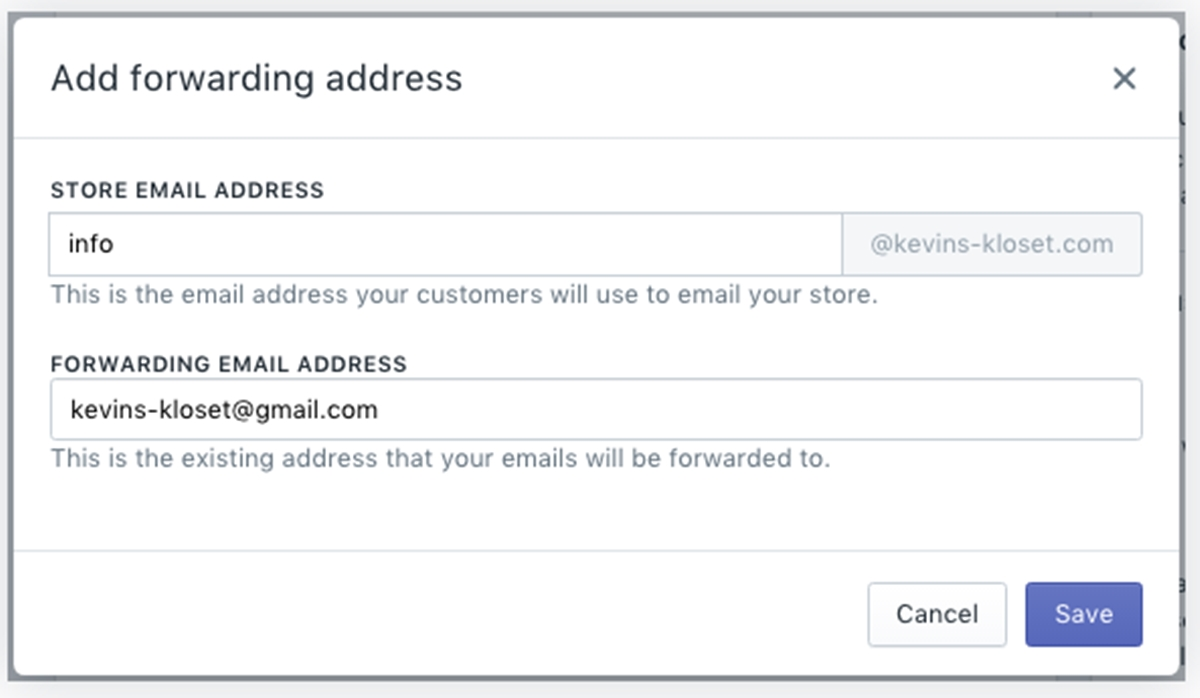 set up email forwarding